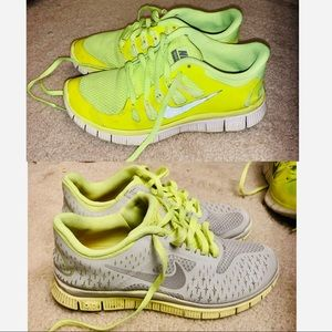 2 pairs of Nike Free Tennis Shoes